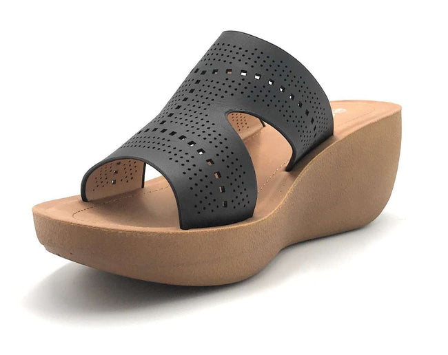 Forever Wedge-22 Black Color  Shoes for Women