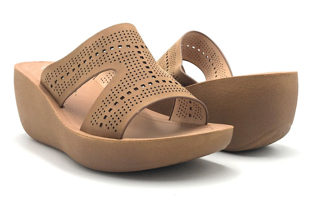 Forever Wedge-22 Tan Color  Shoes for Women