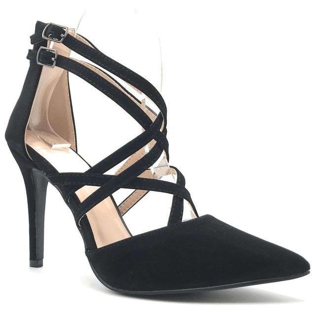 Forever Young-04 Black Color Heels Shoes for Women