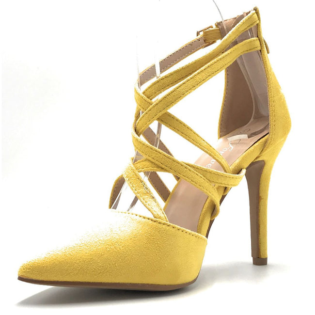 Forever Young-04 Mustard Color Heels Shoes for Women