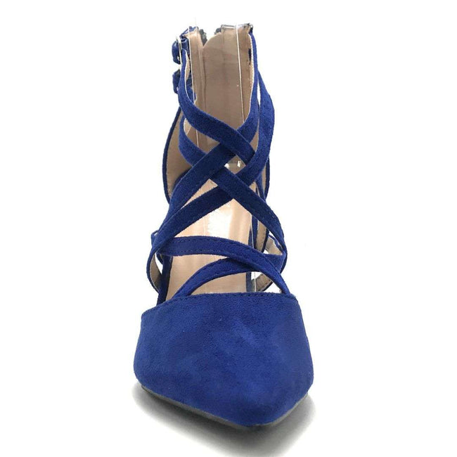 Forever Young-04 Royal Blue Color Heels Shoes for Women