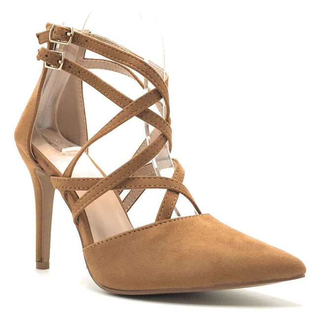 Forever Young-04 Tan Color Heels Shoes for Women