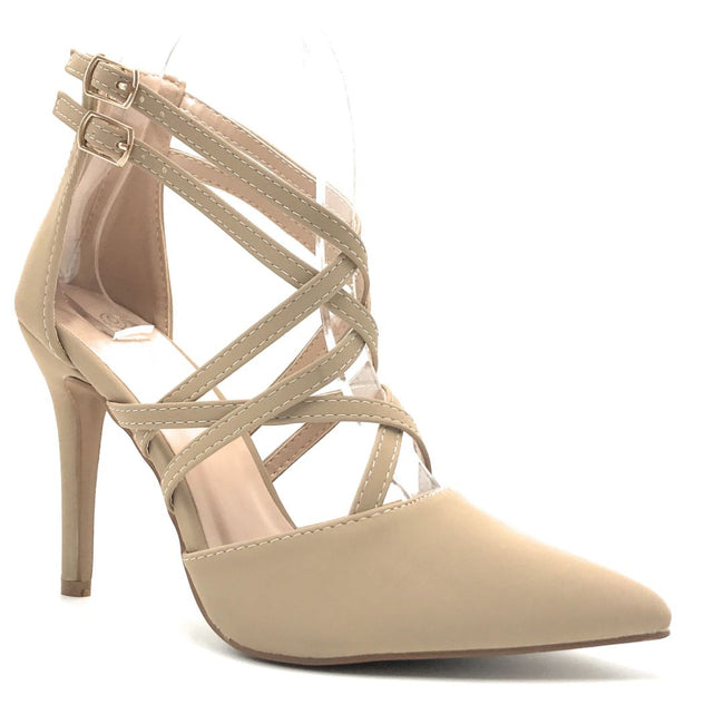 Forever Young-04 Taupe Color Heels Shoes for Women