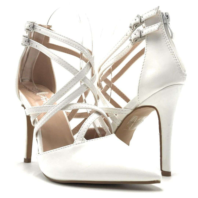 Forever Young-04 White Color Heels Shoes for Women