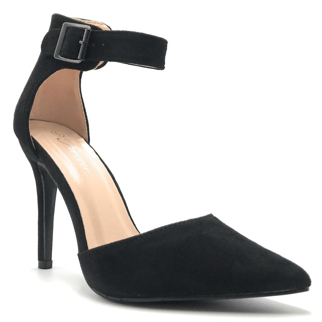 Forever Young-05 Black Color Heels Shoes for Women