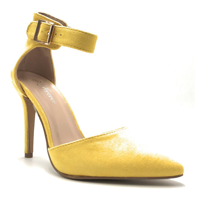 Forever Young-05 Mustard Color Heels Shoes for Women