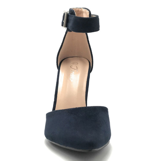 Forever Young-05 Navy Color Heels Shoes for Women