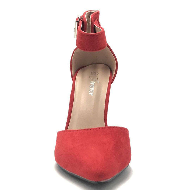 Forever Young-05 Red Color Heels Shoes for Women