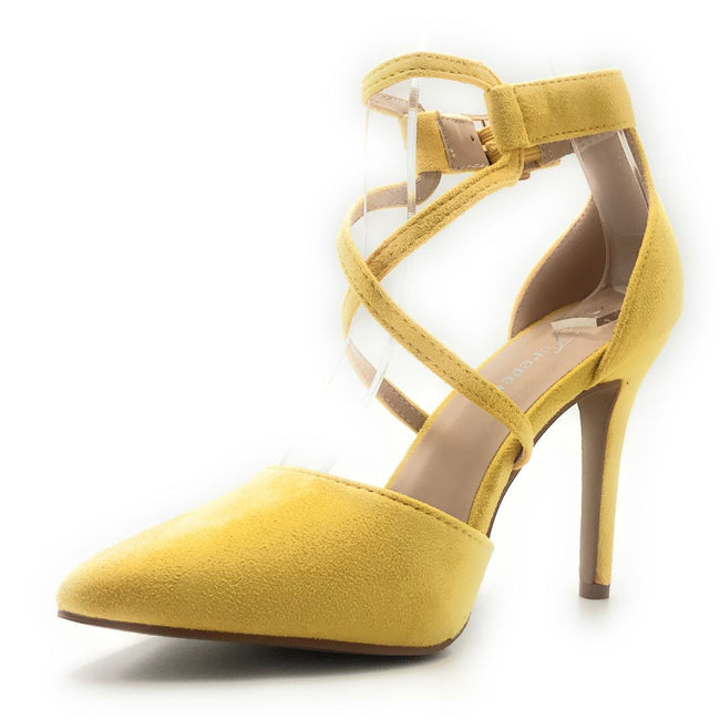 Forever Young-08 Mustard Suede Color Heels Shoes for Women