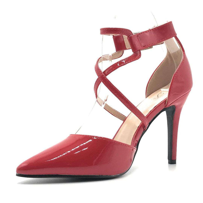 Forever Young-08 Red Pat Color Heels Shoes for Women