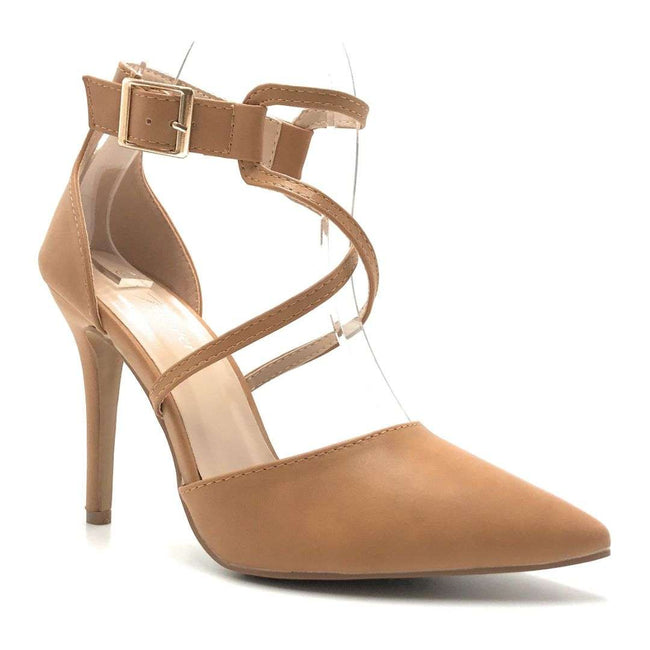 Forever Young-08 Tan Pu Color Heels Shoes for Women