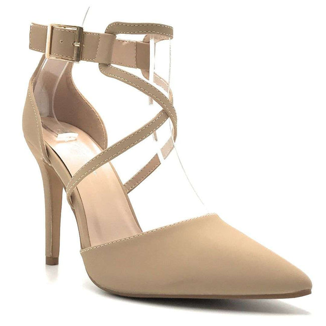 Forever Young-08 Taupe Nub Color Heels Shoes for Women