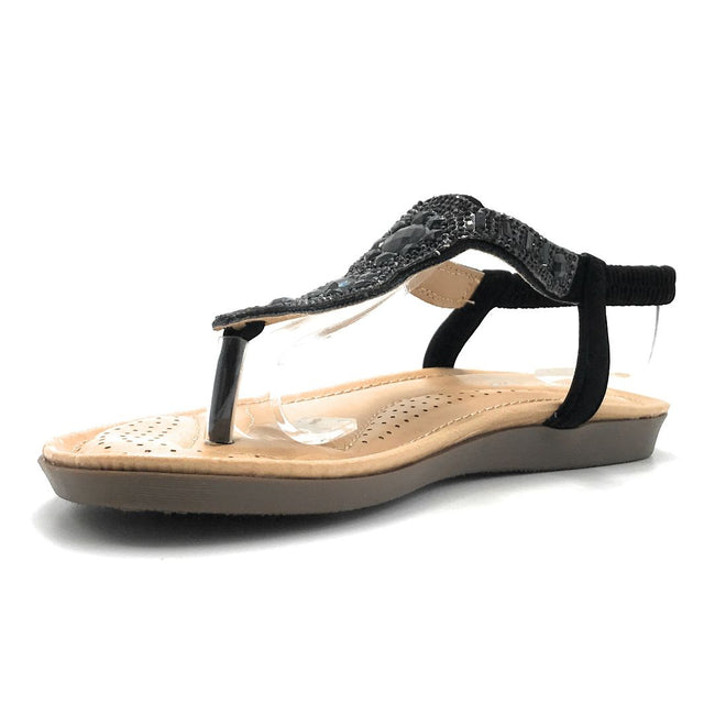 Forever Yulia-19 Black Color Flat-Sandals Shoes for Women