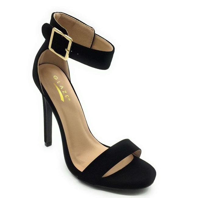 Glaze Momo-1 Black Color Heels Shoes for Women