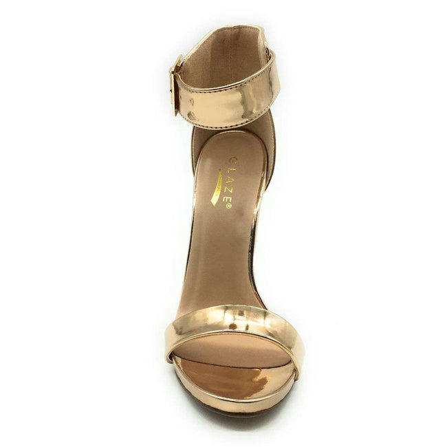 Glaze Momo-1 RoseGold Color Heels Shoes for Women