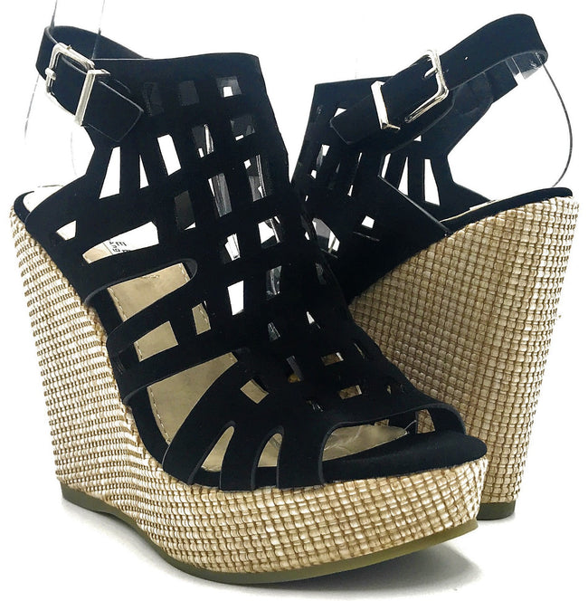 Kayleen Christi-2 Black Color Wedge Shoes for Women