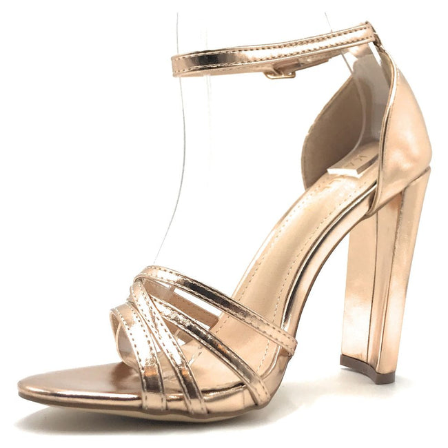 Kayleen Nadie-1 Rose Gold Color Heels Shoes for Women