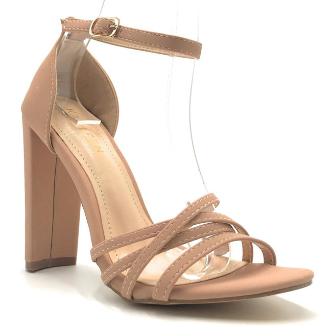 Kayleen Nadie-1 Taupe Color Heels Shoes for Women