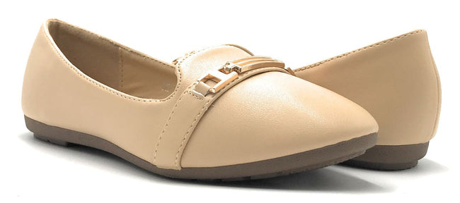 Kecom DH-069-12 Apricot Color Ballerina Shoes for Women