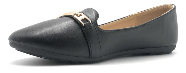 Kecom DH-069-12 Black Color Ballerina Shoes for Women
