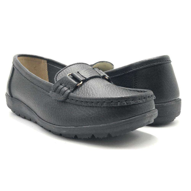 Kecom QJ-8013 Black Color Moccasin Shoes for Women