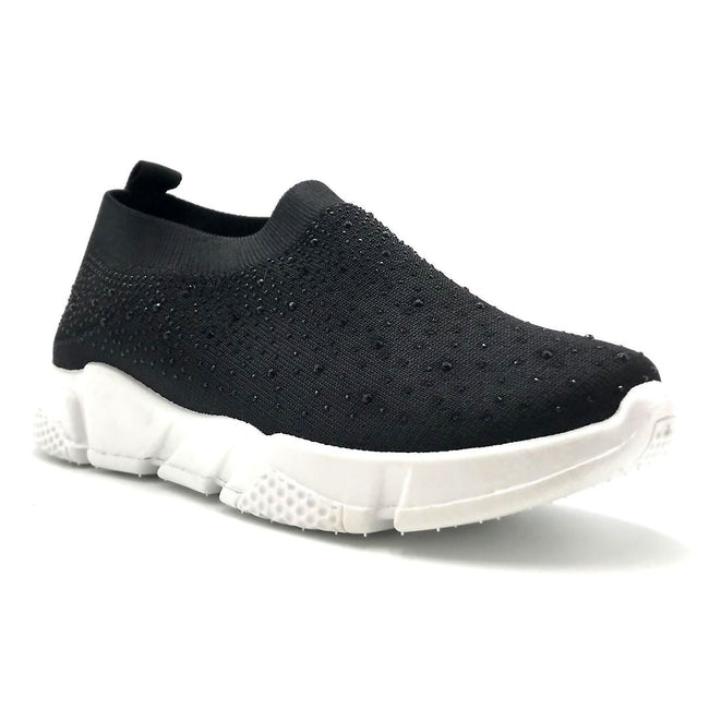 Kedi 9072 Black Color Fashion Sneaker Right Side View, Women Shoes