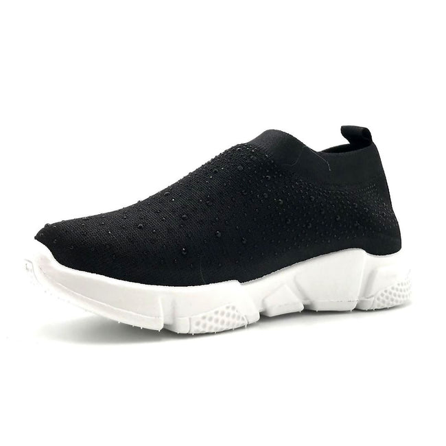 Kedi 9072 Black Color Fashion Sneaker Left Side view, Women Shoes