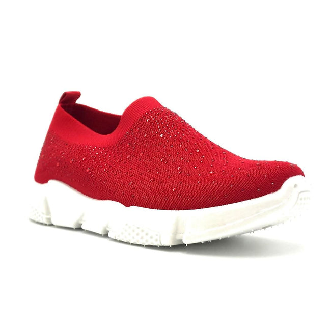Kedi 9072 Red Color Fashion Sneaker Right Side View, Women Shoes