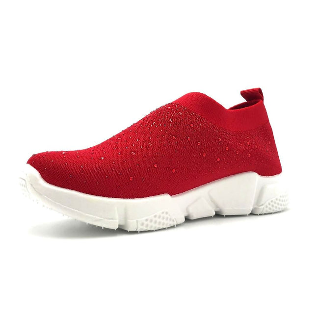 Kedi 9072 Red Color Fashion Sneaker Left Side view, Women Shoes