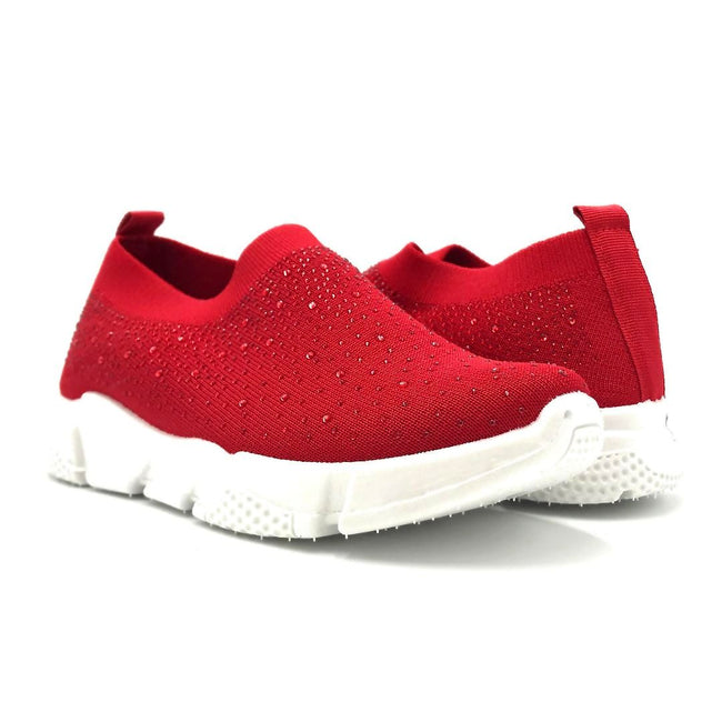 Kedi 9072 Red Color Fashion Sneaker Both Shoes together, Women Shoes