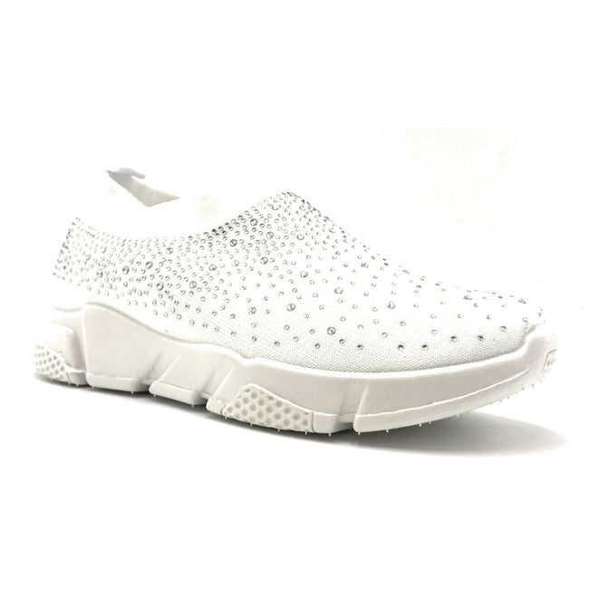 Kedi 9072 White Color Fashion Sneaker Right Side View, Women Shoes