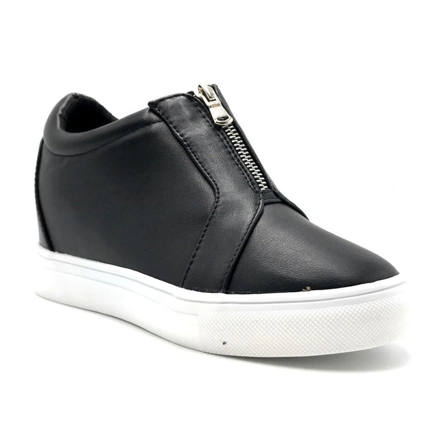 La Sheelah Hidden-01 Black Color Fashion Sneaker Right Side View, Women Shoes