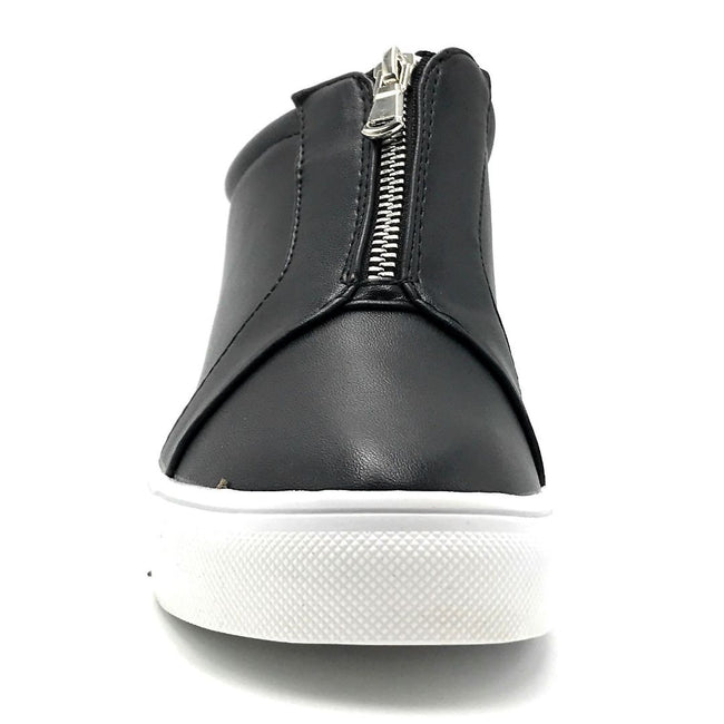 La Sheelah Hidden-01 Black Color Fashion Sneaker Front View, Women Shoes