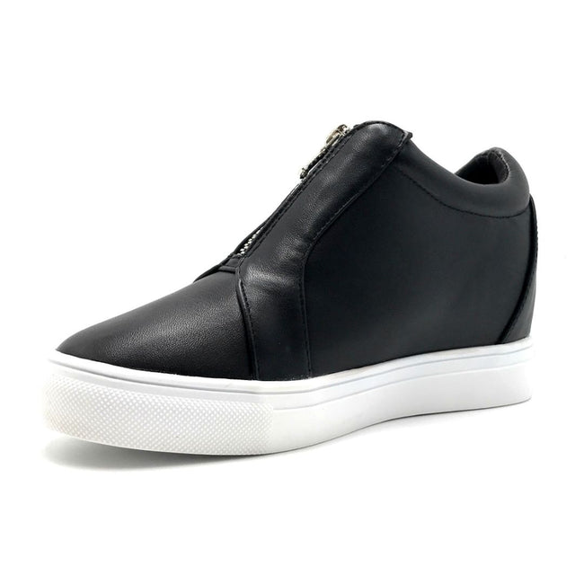 La Sheelah Hidden-01 Black Color Fashion Sneaker Left Side view, Women Shoes