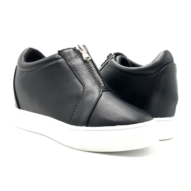 La Sheelah Hidden-01 Black Color Fashion Sneaker Both Shoes together, Women Shoes
