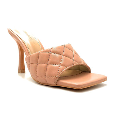 Legend Bona-01 Nude Color Heels Right Side View, Women Shoes