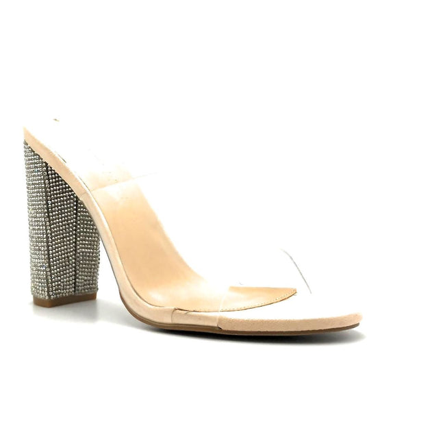 Legend Morris-298 Nude Color Heels Right Side View, Women Shoes