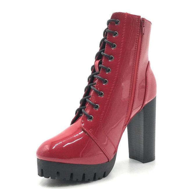 Legend Veronica-10 Red Color Boots Shoes for Women