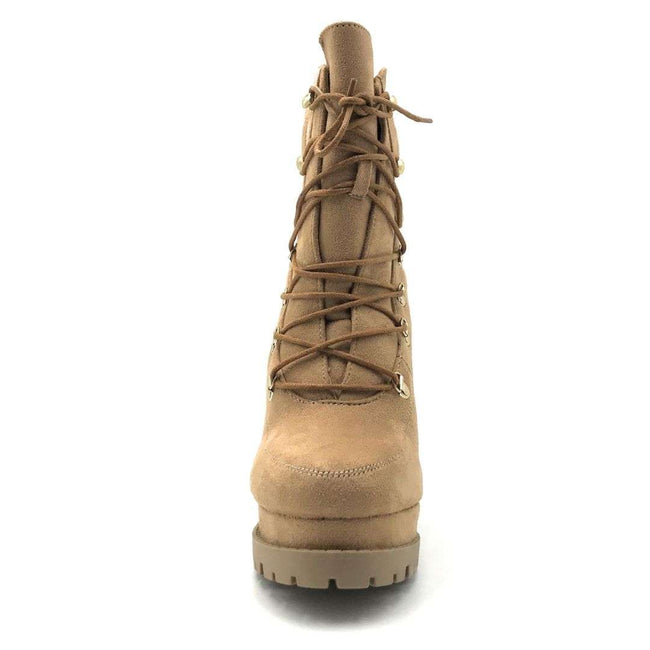 Legend Vivian-06 Camel Color Boots Shoes for Women