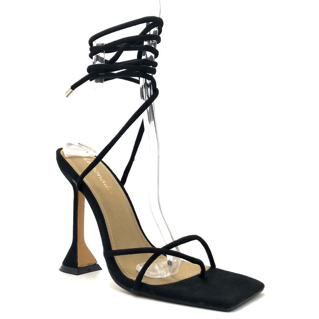 Lemonade Emily Black Color Heels Right Side View, Women Shoes