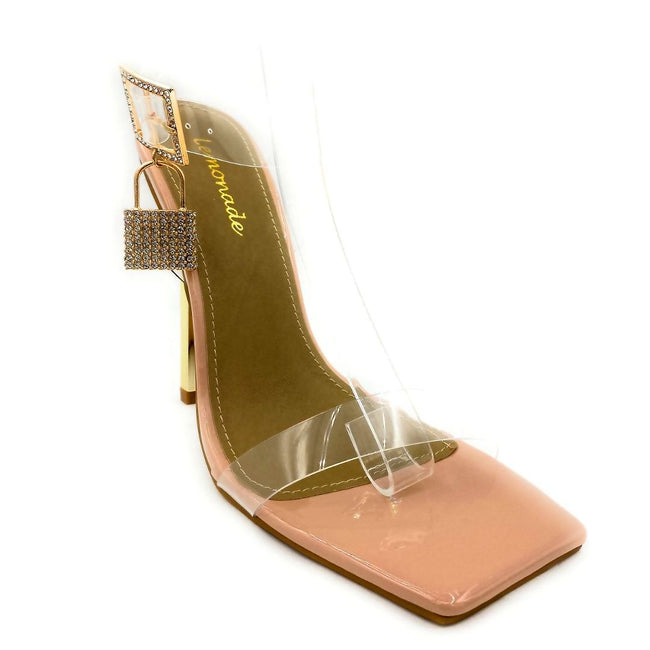 Lemonade Jupiter Nude Color Heels Right Side View, Women Shoes