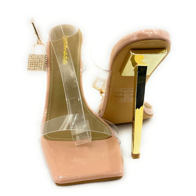 Lemonade Jupiter Nude Color Heels Both Shoes together, Women Shoes