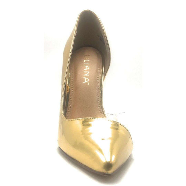 Liliana Angie-10 Gold Color Heels Shoes for Women