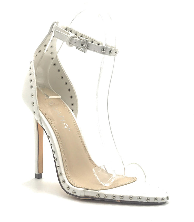 Liliana Barbara-128 White Color Heel Shoes for Women