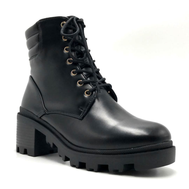 Liliana Benny-1 Black Color Boots Right Side View, Women Shoes