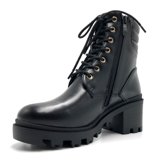 Liliana Benny-1 Black Color Boots Left Side view, Women Shoes