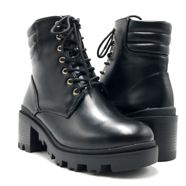 Liliana Benny-1 Black Color Boots Both Shoes together, Women Shoes