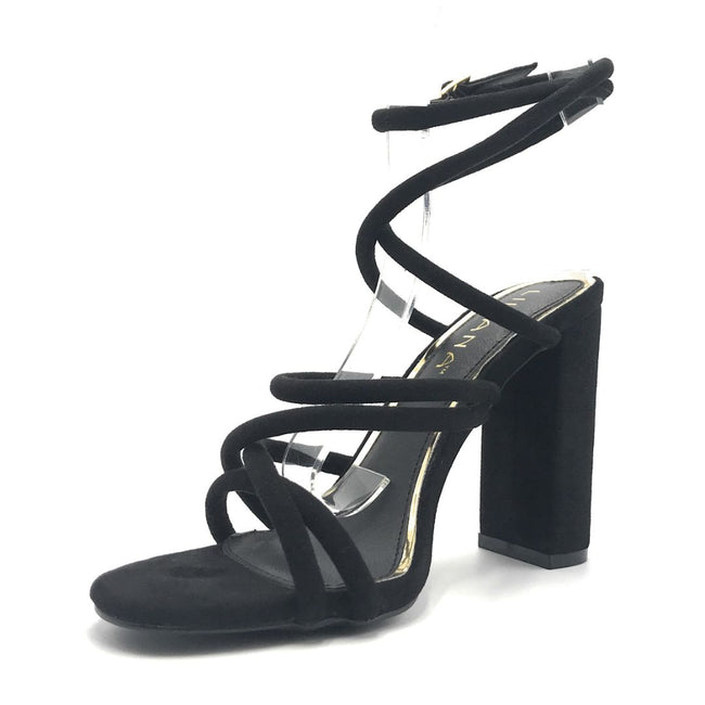 Liliana Beta-1 Black Color Heels Shoes for Women