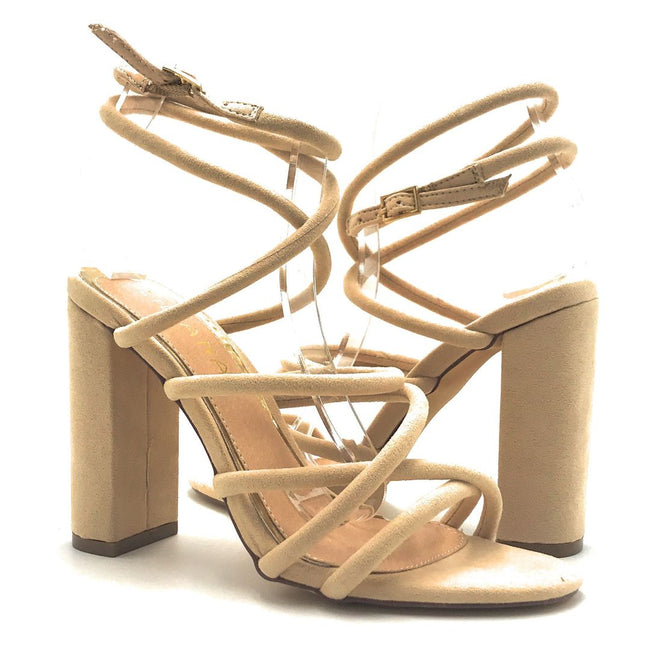 Liliana Beta-1 Nude Color Heels Shoes for Women