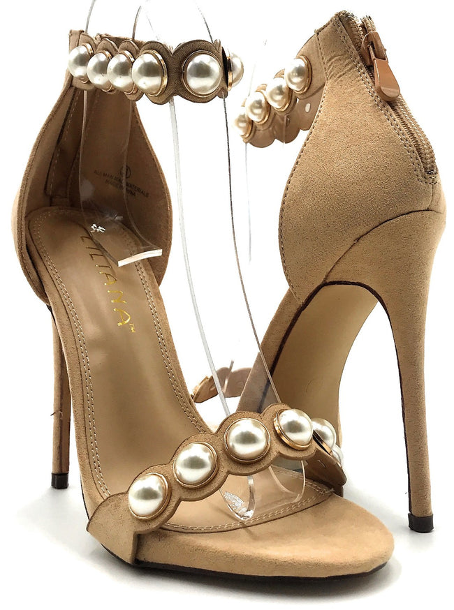 Liliana Danz-2 Nude Color Heel Shoes for Women